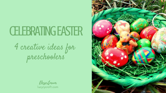 easter, preschoolers, creative, families, kids, children, resurrection eggs, lent baskets, storytelling, easter play scene