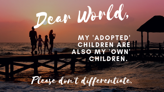 adoption, fostering, blended families, blended family, birth children, mixing biological with adopted