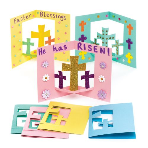 creative lent ideas for families, baker ross, easter crafts, easter cards, lent crafts, preschool crafts, children's crafts