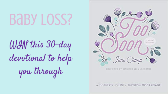 too soon, jane clamp, book review, giveaway, miscarriage, baby loss, support, grief, mourning, mother, mum, motherhood