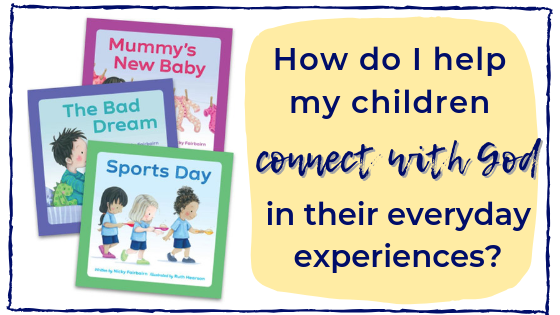 These cute books help Christian parents to help their kids connect with God, applying the Bible's truth in every situations.