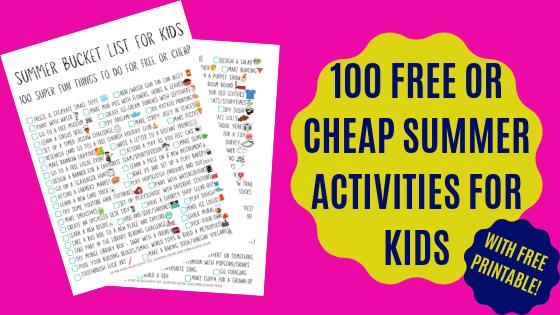Fun summer bucket list for kids