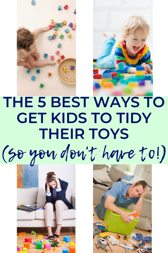 Want to know the BEST ways to get kids to clean up? This post is crammed full of fun games and activities for your toddlers or older children, to teach them to tidy up after themselves. #parenting #tidyup #cleanup #games #lifeskills