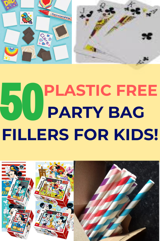 Planning a zero waste kids party? Try this mega list of fun and unique alternative party bag fillers. No plastic in sight!