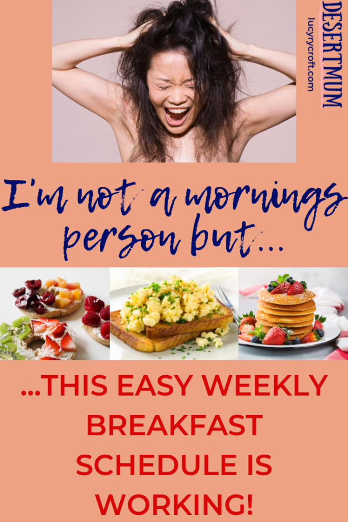 Simple, fast breakfast ideas for creating an easy weekly breakfast schedule for kids and adults alike.