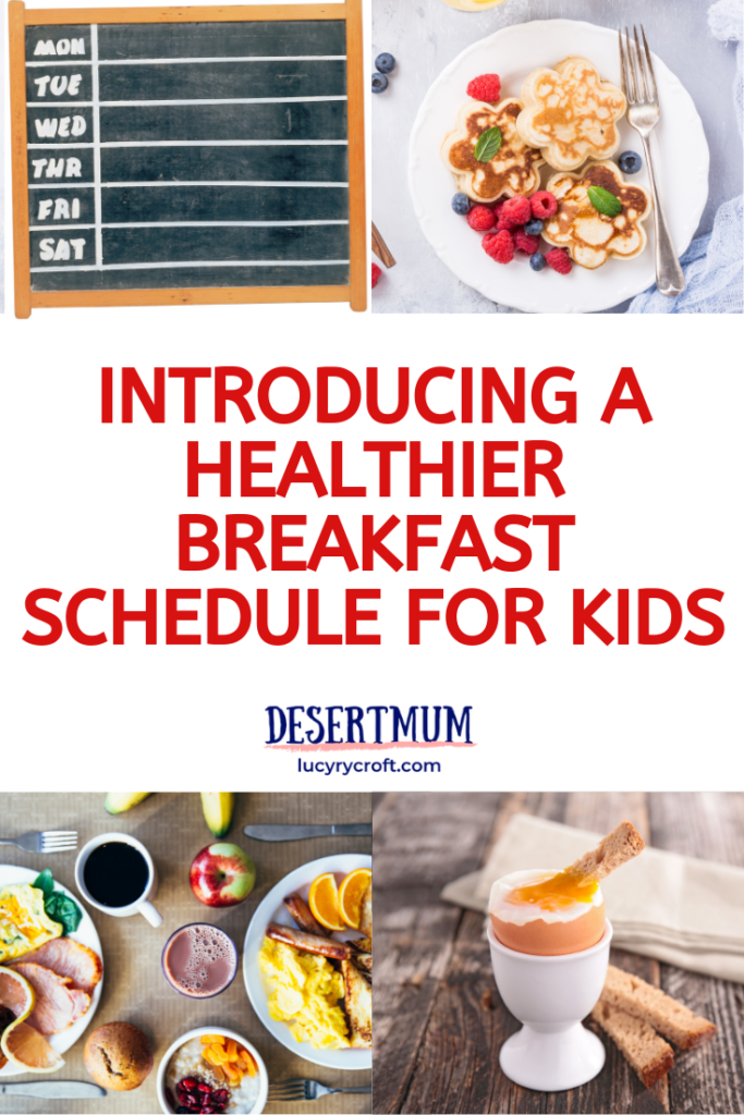 A weekly breakfast schedule which really works! Easy, simple, quick, no-fuss.