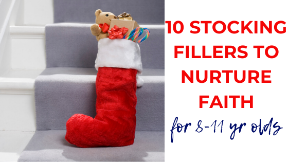 Faith-building stocking stuffers for your 8s-11s this Christmas! Fill their stocking with items to encourage and challenge them as they grow as Christians.