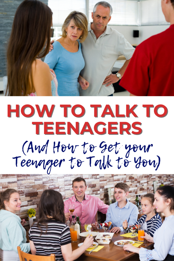 How to talk to teenagers (and how to get your teenager to talk to you) - advice from an experienced mom/mum of teens.