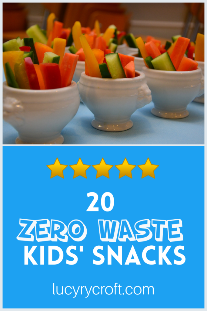 Looking for plastic free snacks for kids? With all the convenient kiddy snacks arriving in plastic, this blog post gives you 20 quick and easy zero waste snack ideas.