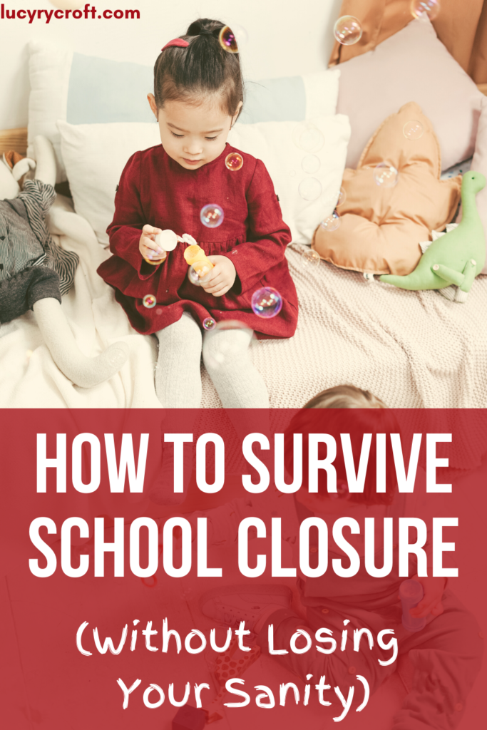 How to survive school closure - what to do if coronavirus closes schools and you're stuck at home with your kids. Here are ideas for keeping your sanity!